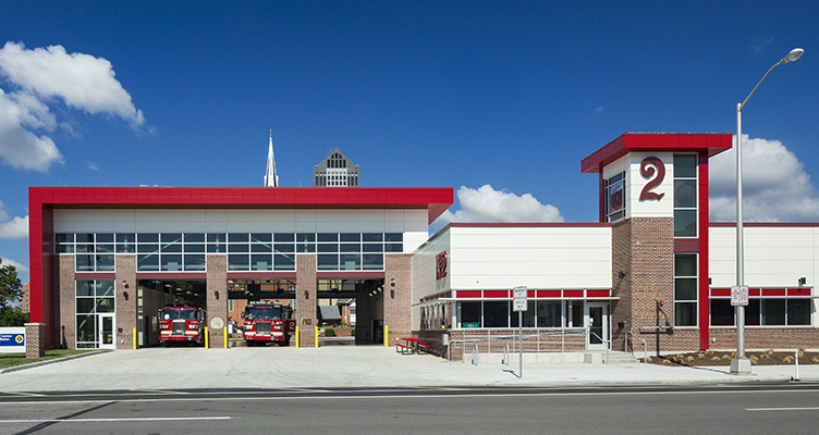 Columbus fire station no 2 replacement dlz for Architectural services near me