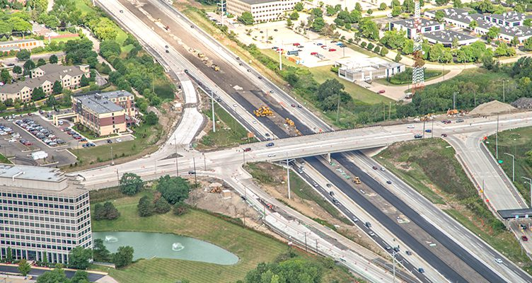 Roadway And Bridge Reconstruction Roselle Road Over The