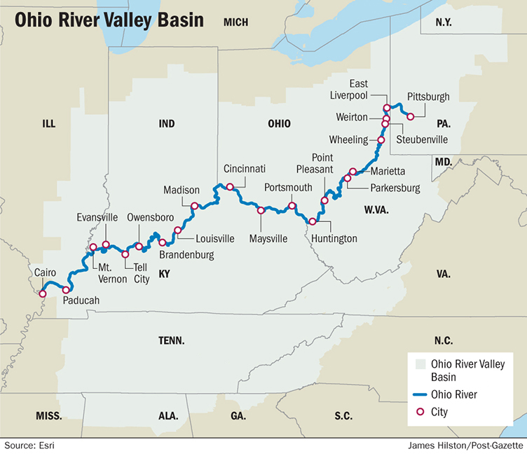 Map Of Ohio Rivers And Cities.Blog Dlz